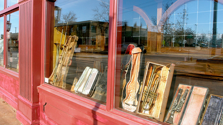 Music store front
